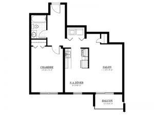 Appartement à louer - Complexe Lunik - 3½