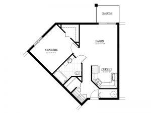 Appartement à louer - Le Bourg des Oliviers - 3½