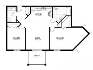 Appartement à louer - Le Bourg des Oliviers - 4½