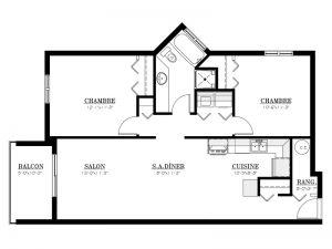 Appartement à louer - Le 3450 - 4½