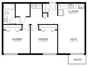 Appartement à louer - Le 620 - 4½