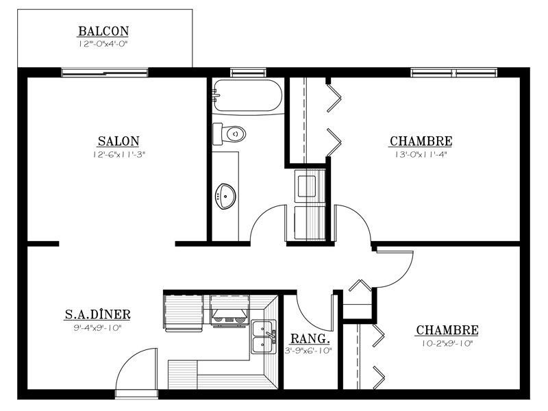 Appartement louer le 655 4 appartements louer for Conception de plans de manoir